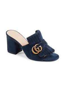Gucci GG Marmont Peep Toe Mule (Women)