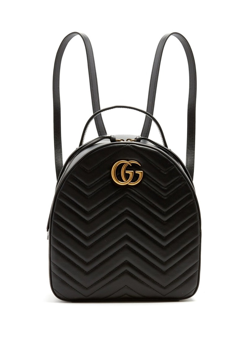 b4e250dfda8 Gucci Gucci GG Marmont quilted-leather backpack