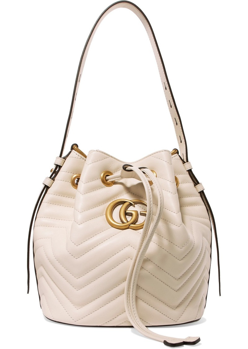 333a1a628498b8 Gucci GG Marmont quilted leather bucket bag | Handbags