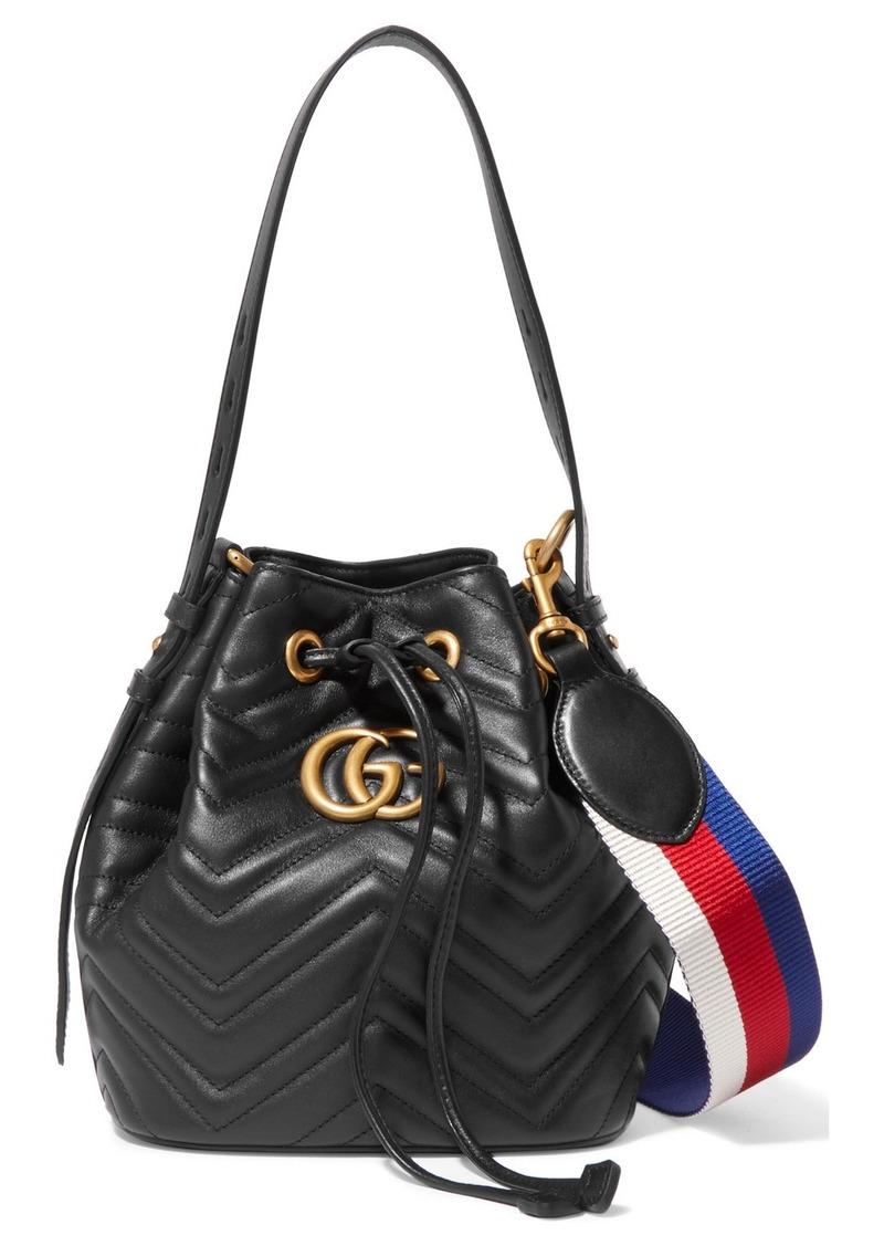 6b9382ef1755fd Gucci Gg Marmont Quilted Leather Bucket Bag | Handbags