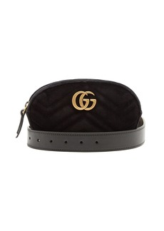 Gucci GG Marmont quilted-velvet belt bag