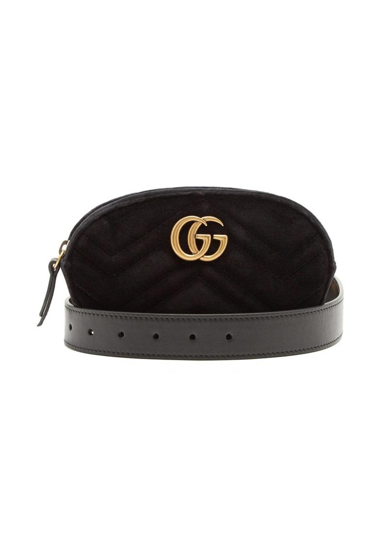 e1ce65e4ec5b9e Gucci Gucci GG Marmont quilted-velvet belt bag | Handbags