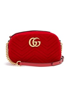 Gucci GG Marmont quilted-velvet cross-body bag