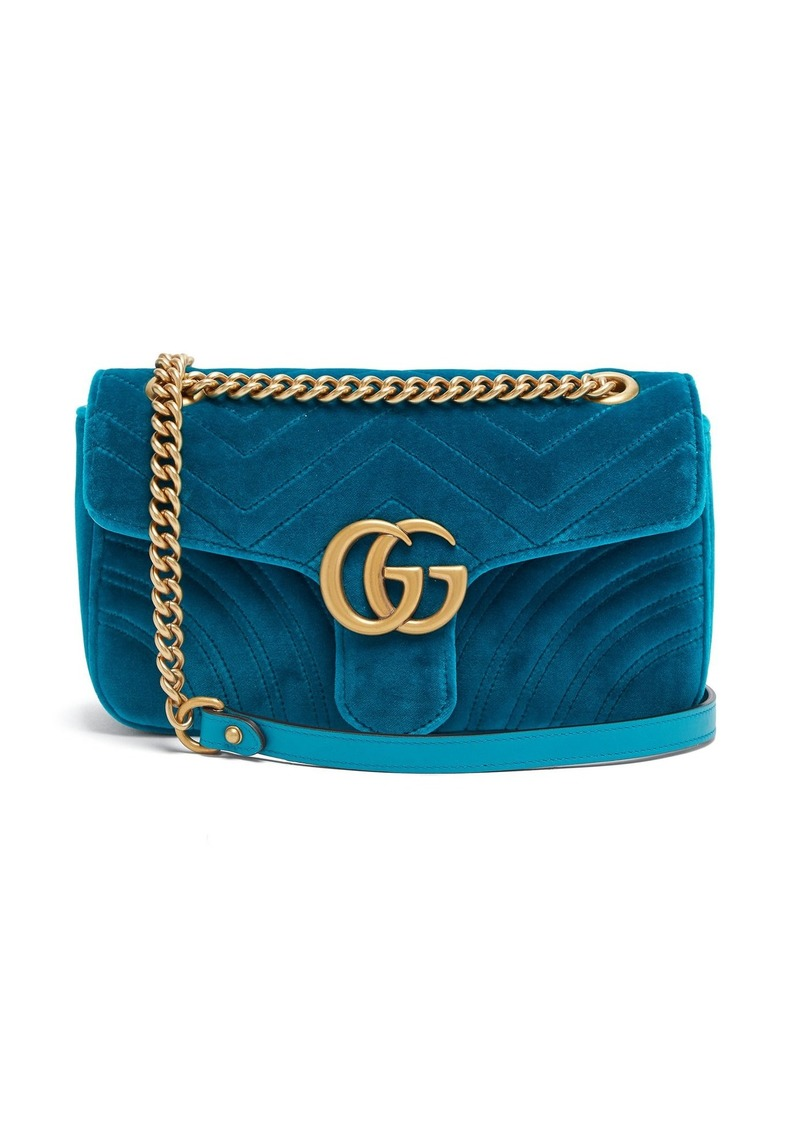 554c2a77437b Gucci Gucci GG Marmont small quilted velvet shoulder bag | Handbags