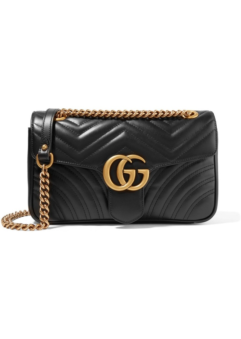 a374d3491f0a Gucci Gucci GG Marmont small quilted leather shoulder bag