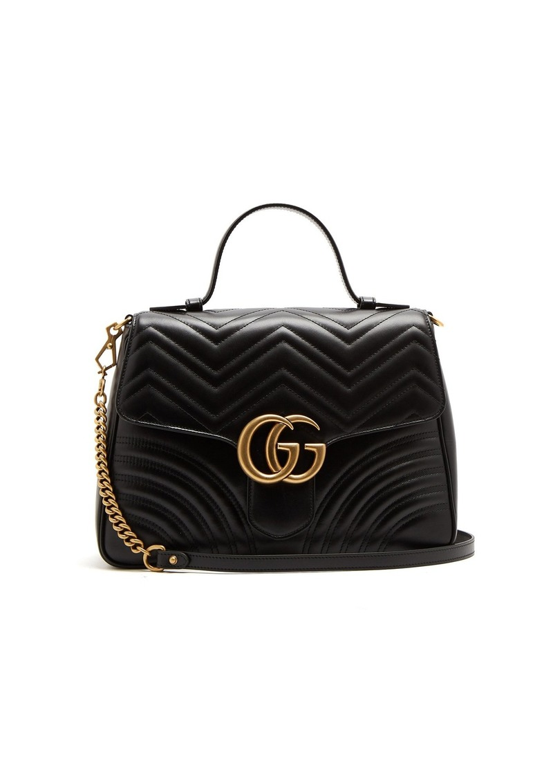 c90eb975ebf5 Gucci Gucci GG Marmont small quilted-leather shoulder-bag