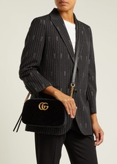 f77e59676f6c7 ... Gucci GG Marmont small quilted-velvet cross-body bag ...