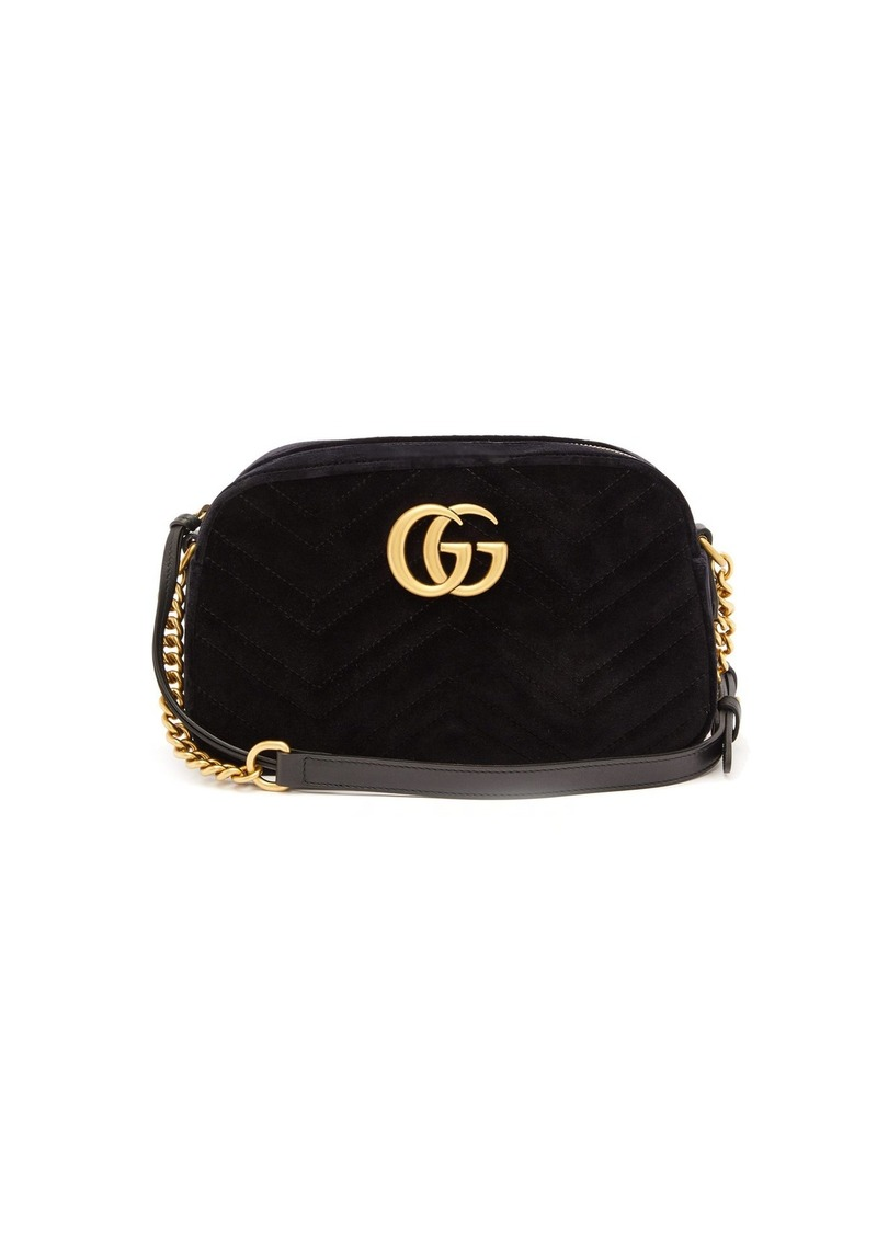 b4ade5fc12a5 Gucci Gucci GG Marmont small quilted-velvet cross-body bag | Handbags