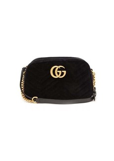 Gucci GG Marmont small quilted-velvet cross-body bag