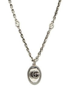 Gucci GG Marmont sterling-silver necklace
