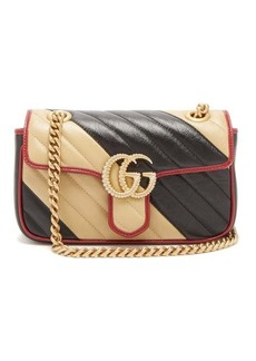 Gucci GG Marmont two-tone leather cross-body bag