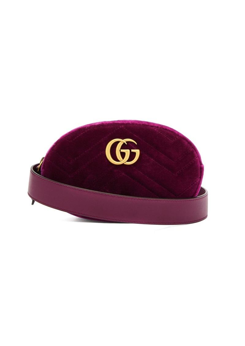 Gucci Gucci GG Marmont velvet belt bag