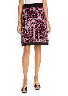 Gucci GG Metallic Jacquard Knit Skirt