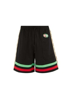 Gucci GG-patch Web Stripe jersey shorts