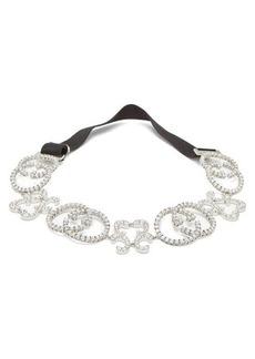 Gucci GG pave crystal headband
