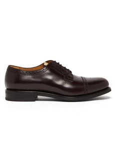 Gucci GG-perforated leather brogues