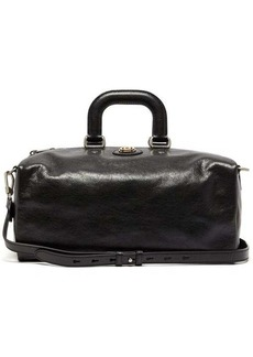 Gucci GG-plaque leather holdall