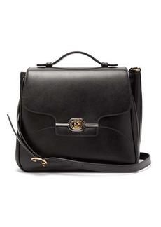 Gucci GG-plaque leather messenger bag