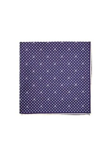 Gucci GG polka-for print silk-faille pocket square