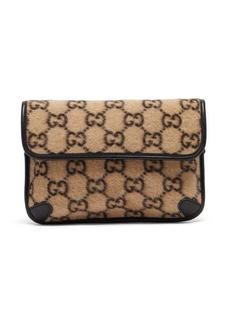 Gucci GG-print felt belt bag