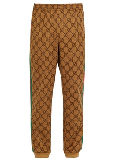 Gucci GG-print side-stripe track pants