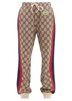 Gucci GG-print Web-stripe track pants