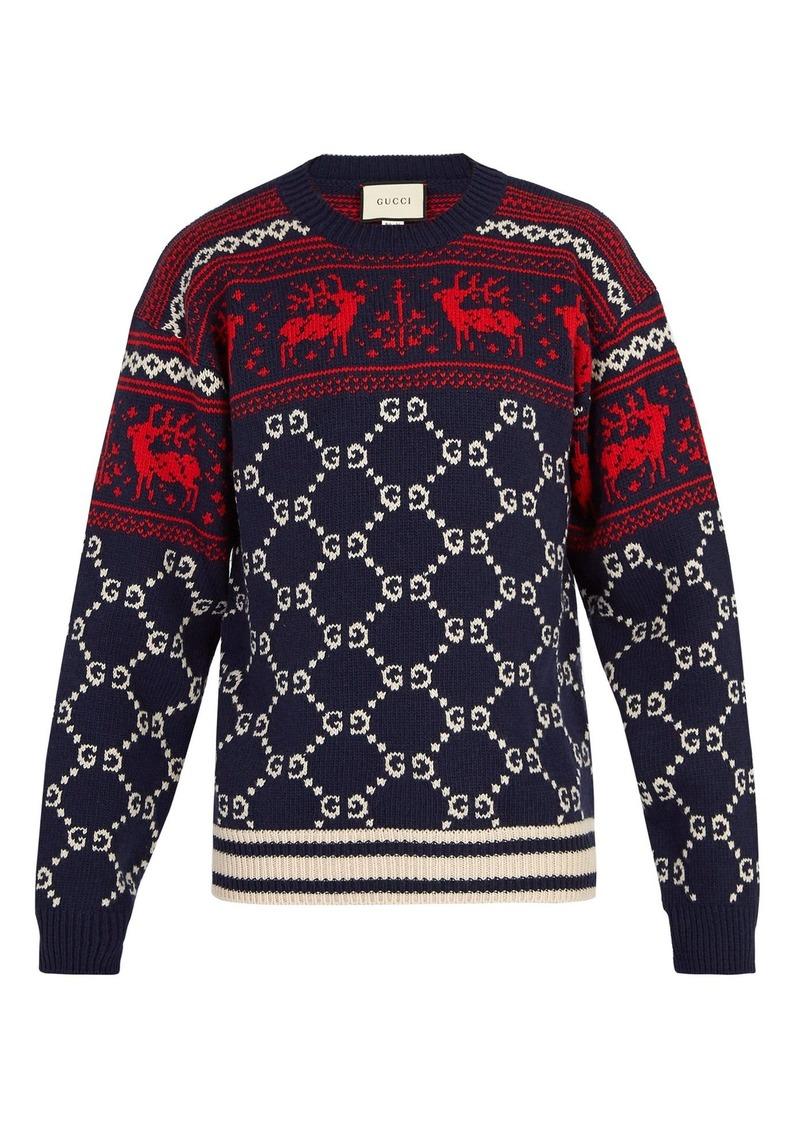 3c64f9ea8b7 Gucci Gucci GG reindeer wool sweater