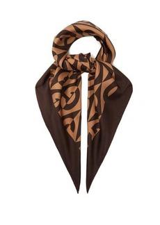 Gucci GG Rhombus-print silk scarf