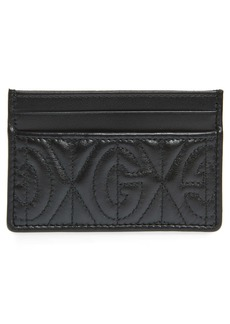 Gucci GG Rhombus Quilted Leather Card Case