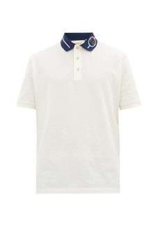 Gucci GG-rope logo cotton-blend piqué polo shirt