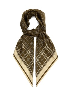 Gucci GG rope-print silk scarf
