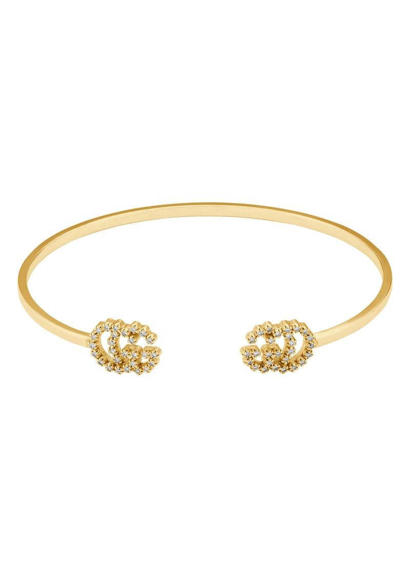 Gucci GG Running Diamond Cuff Bracelet