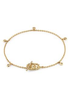 Gucci GG Running Diamond Logo Toggle Bracelet
