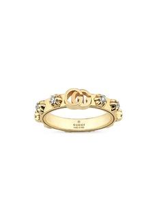 Gucci GG Running Diamond Stacking Ring