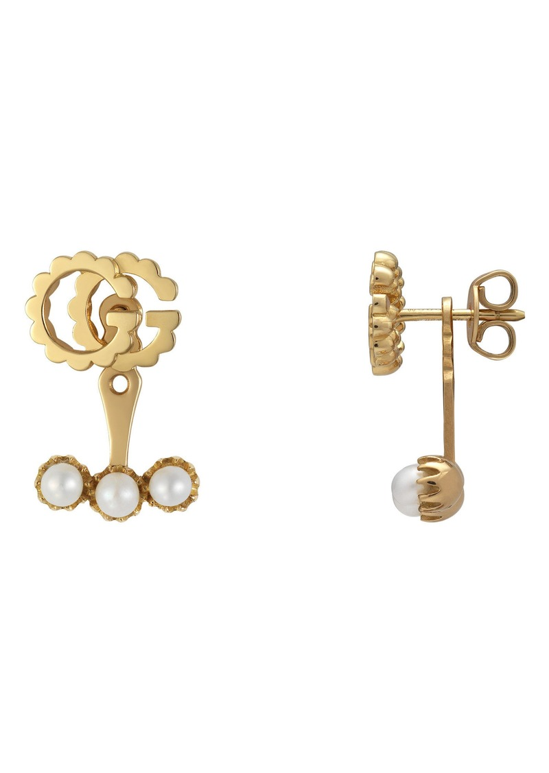 d7f048952bc Gucci Gucci GG Running Single Stud Earring with Pearls