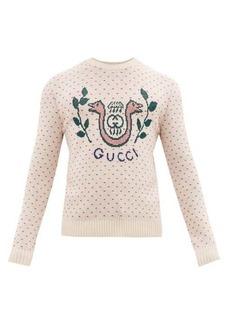 Gucci GG snake-jacquard wool sweater