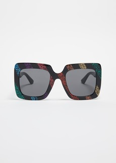 Gucci GG Square Oversized Sunglasses