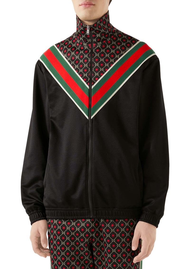 Gucci GG Star Print Technical Jersey Jacket