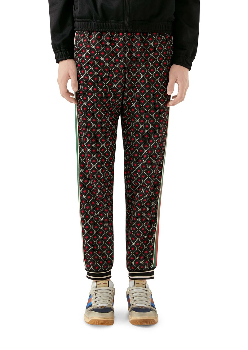 Gucci GG Star Print Technical Jersey Jogger Pants