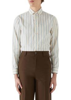 Gucci GG Stripe Cotton Button-Up Shirt