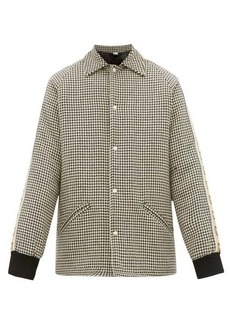 Gucci GG-striped houndstooth overcoat