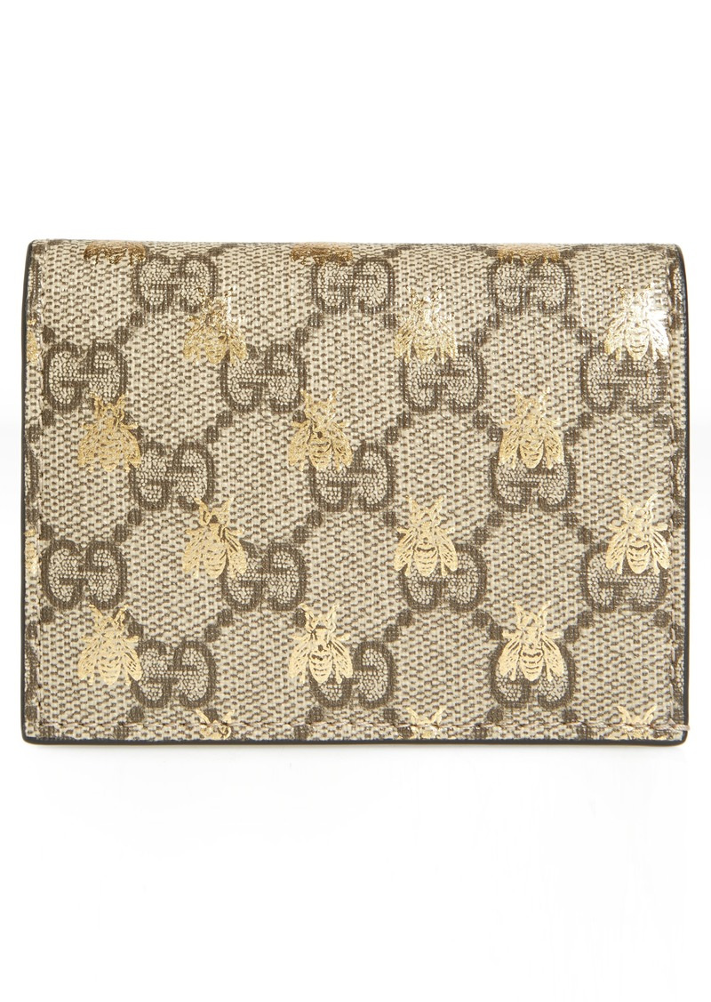 ff18df0e6c8 Gucci Gucci GG Supreme Bee Canvas Bifold Wallet