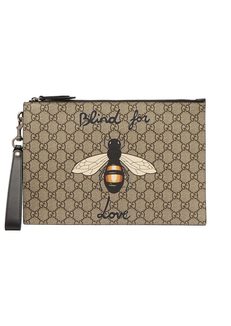 Gucci Gucci GG Supreme bee-print pouch  00a738f6eae2b