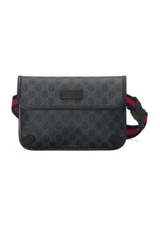 Gucci GG Supreme Belt Bag In Black
