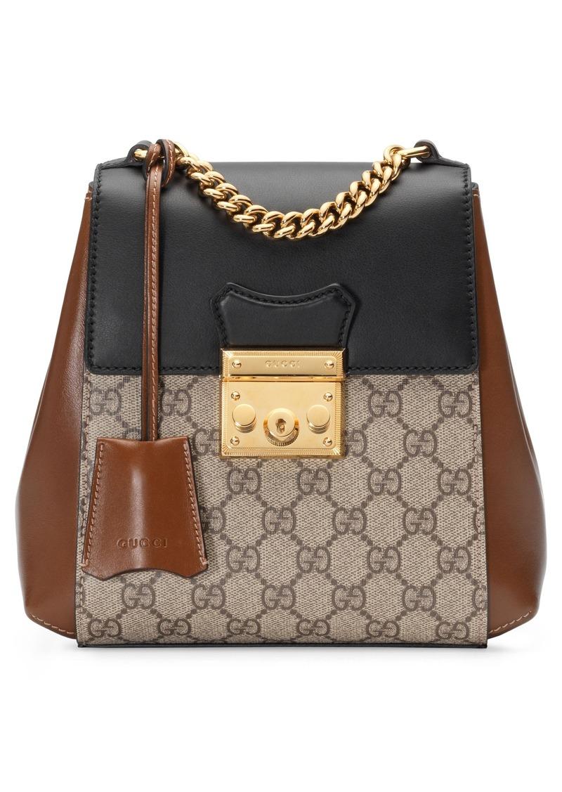 116ca466cde4 Gucci Gucci GG Supreme Canvas & Leather Padlock Backpack | Handbags