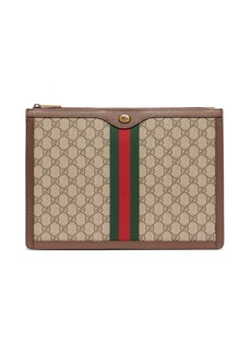 Gucci GG Supreme canvas and leather portfolio