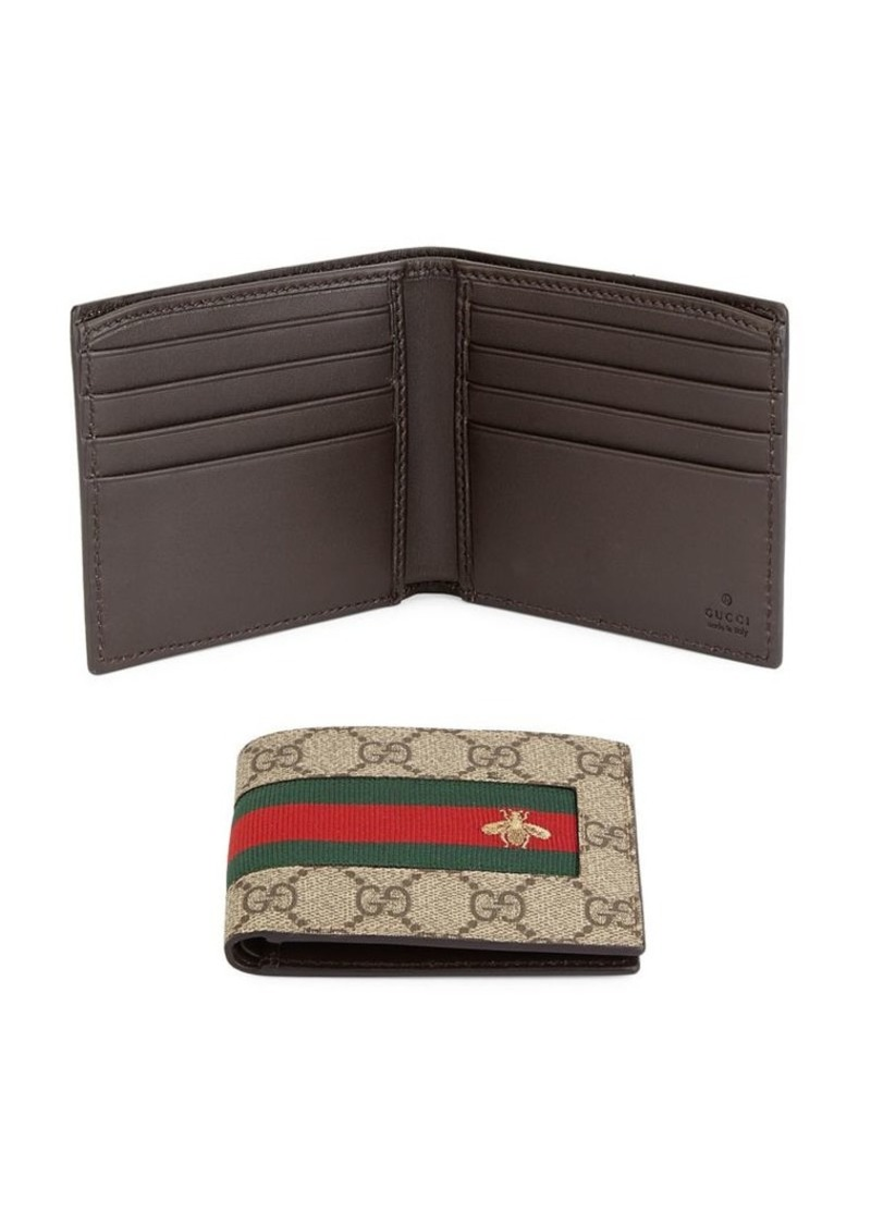 088255a0e00 Gucci GG Supreme Canvas Bi-Fold Wallet
