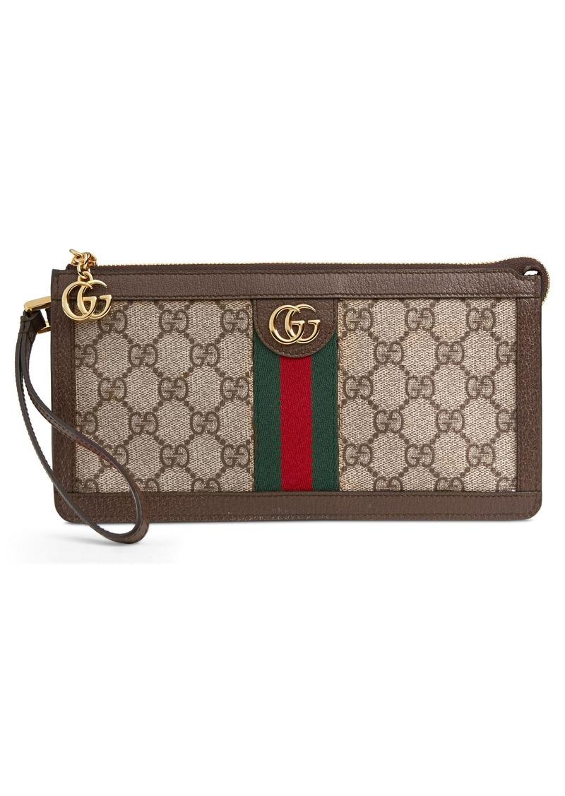 5081650645bb5c Gucci Gucci GG Supreme Canvas Travel Wristlet | Handbags