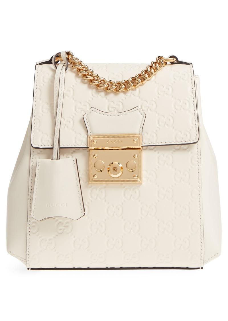 3aaa113f8f0 Gucci Gucci GG Supreme Leather Padlock Backpack