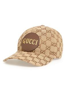 Gucci GG Supreme Logo Canvas Baseball Cap